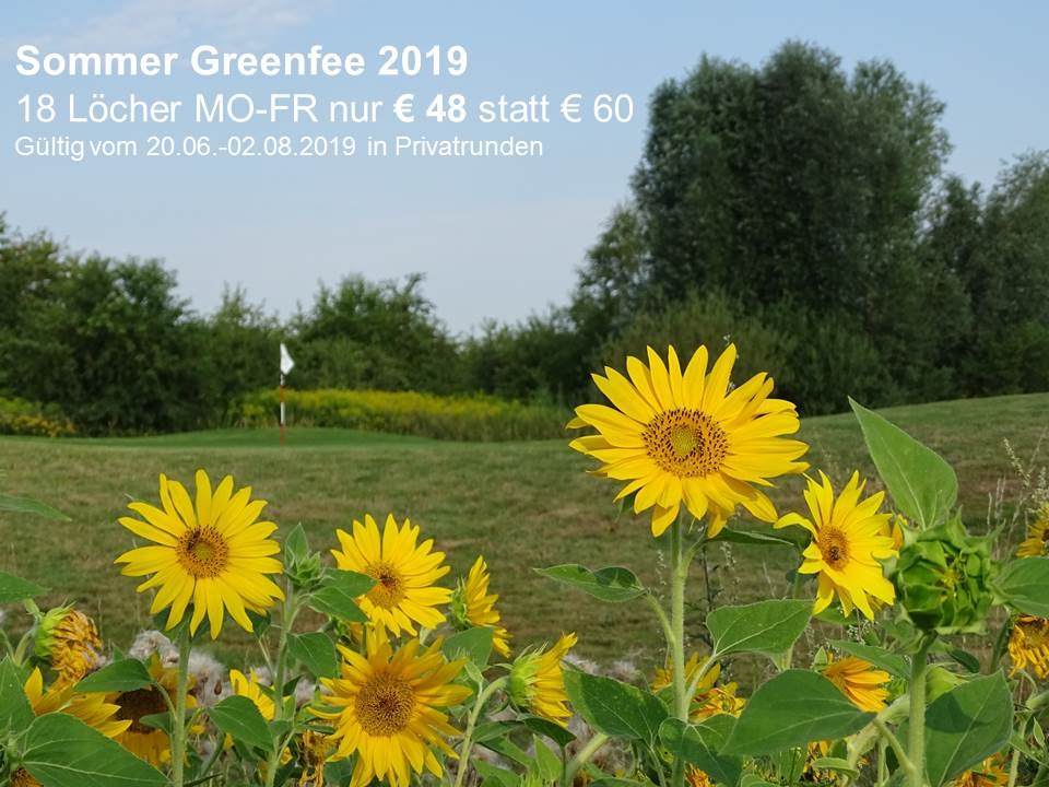 Greenfee Sommerangebot